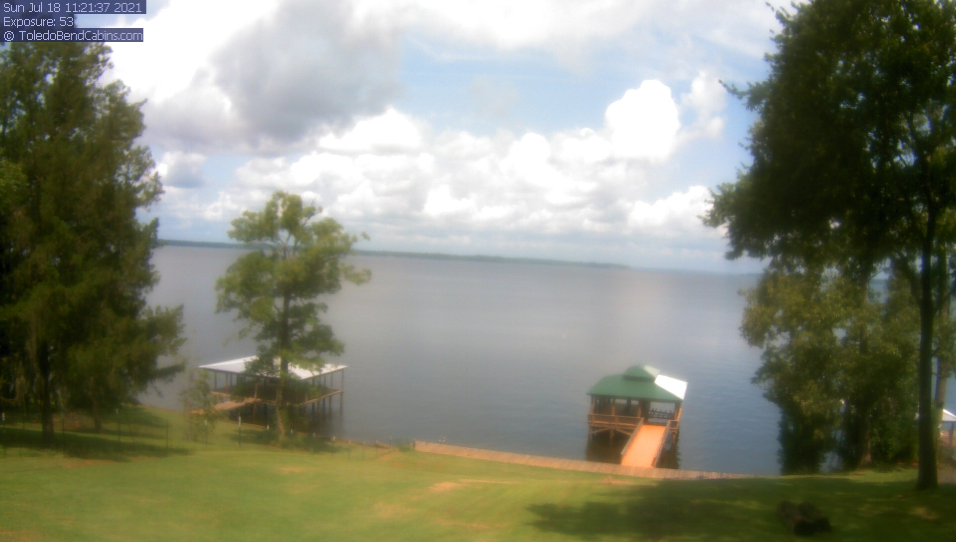 Live Camera view of Toledo Bend Lake