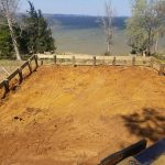 Toledo Bend Cabin foundation on April 1, 2018