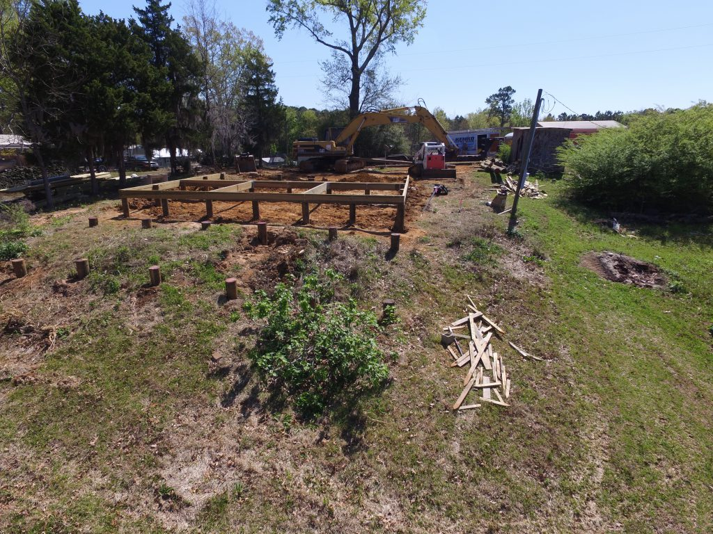 Building the foundation for the Toledo Bend Cabin.