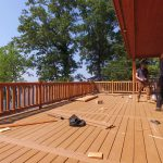 We aded an extra 10 feet to the porch when we designed the cabin.