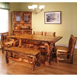 aspen wood dining table