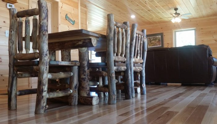 aspen lodgepole dining table