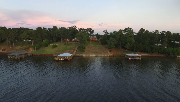 Our Toledo Bend cabin is located directly on the lakefront in deep water.