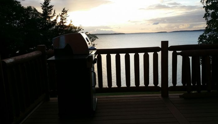 Dramatic picture of the barbeque grill from the deck. :)