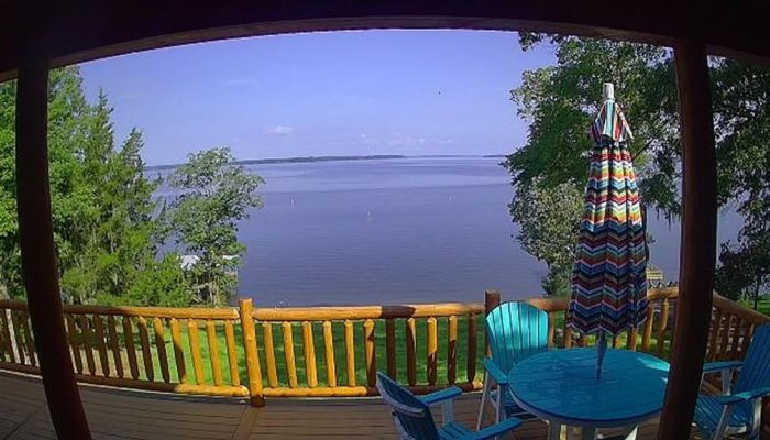 This is the view from the security camera on our outside deck!