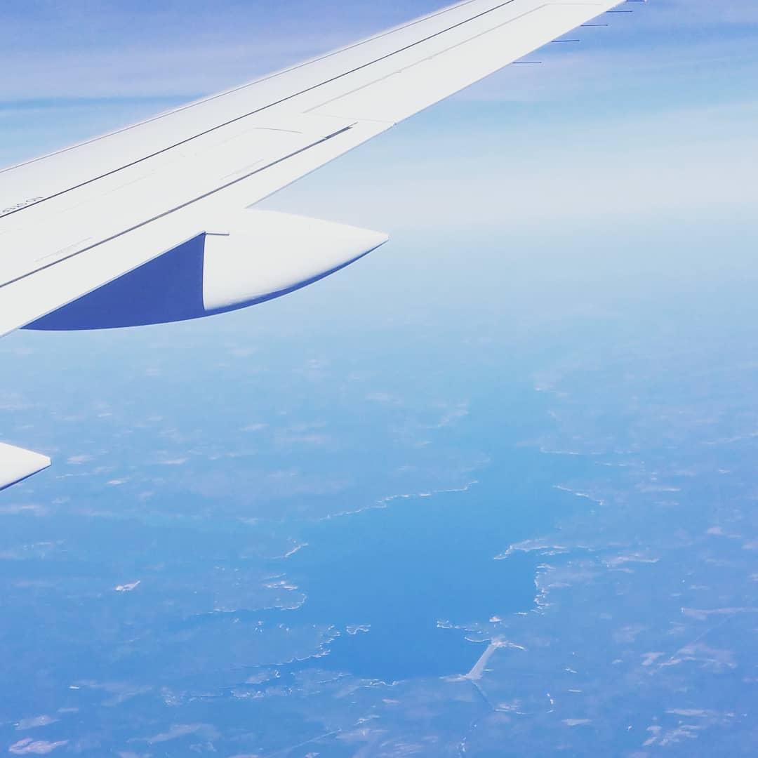 Toledo Bend Lake from an airplane.  #toledobend #toledobendcabins
