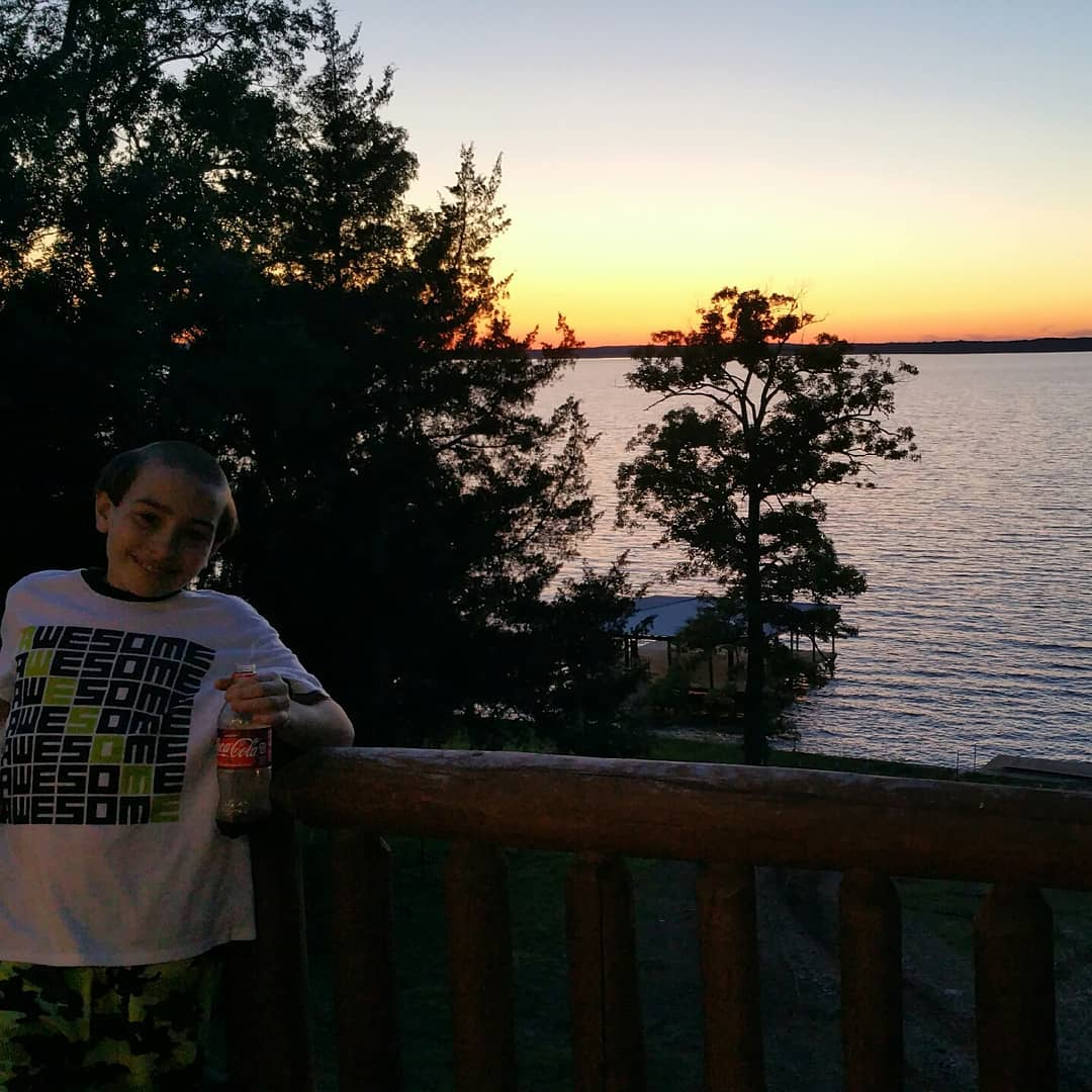 Toledo Bend Sunset and a George Jefferson haircut. :)