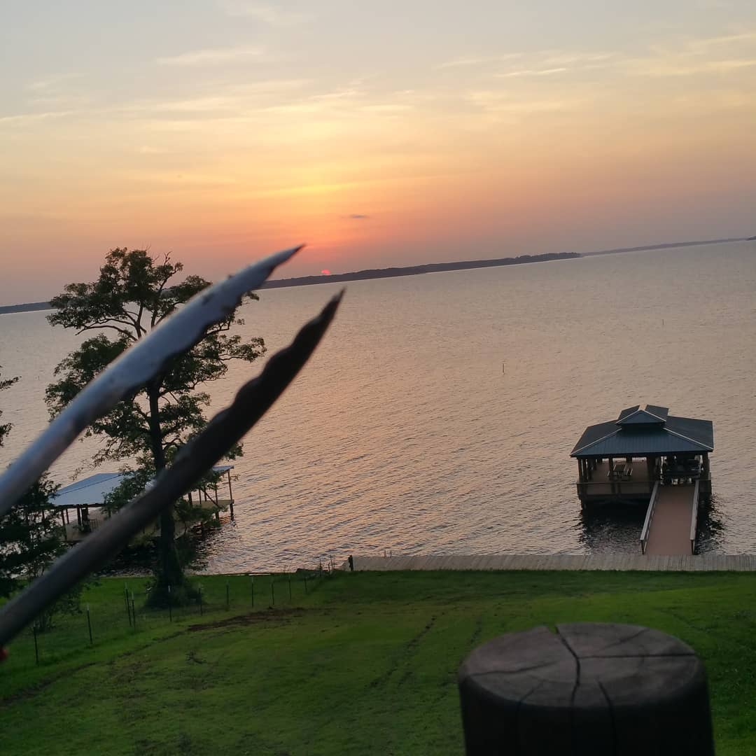 Grilling tonight and watching that beautiful Toledo Bend sunset from the cabin.  ToledoBendCabins.com  #toledobendcabin #toledobendcabins #toledobend #sunset