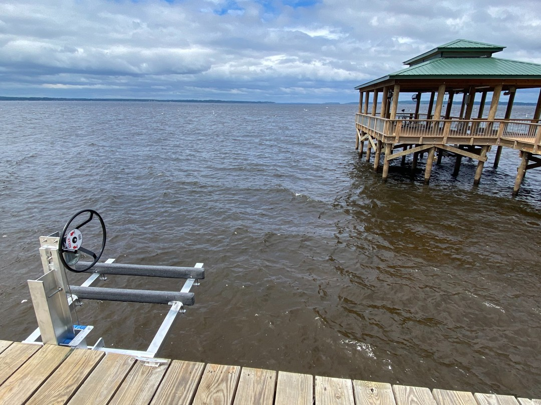 After two days, a bunch of straining and grunting, and occassional crying we have a new jet ski lift at the Toledo Bend Cabin.  #toledobendcabin #jetskilift #toledobend #toledobendcabins
